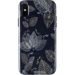 Wilma Midnight Shine Leaf Lines Iphone X / Xs Case - Black, Black 10216527, Black