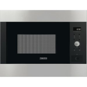 Zanussi Zbg26642xa Built-in Microwave With Grill - Brushed Steel, Brushed Steel, Brushed Steel