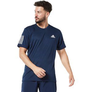 Mens Navy Blue Adidas 3-stripes Club Tennis T-shirt, Navy blue