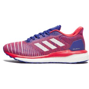 Womens Red Adidas Solar Drive Running Shoes, Red