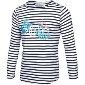 Regatta Kids' Carmella Striped Long Sleeve T-shirt, Navy/nvy 5057538847848 General Clothing, Navy/NVY