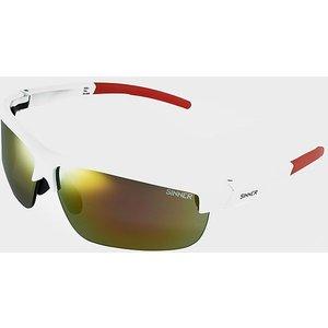 Sinner Antigua Sport Sunglasses (white/interchangeable), White Red 8715999172868 Mens Accessories, WHITE RED