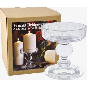 Black Toast Medium Glass Candle Holder Boxed 1BLT020109 Decorations