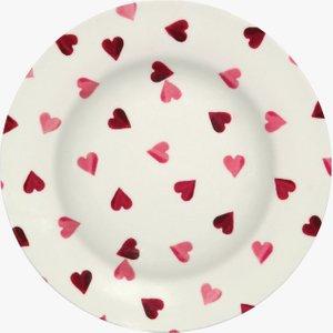 Pink Hearts Melamine Dinner Plate 1PIH020493 Crockery