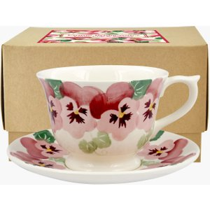 Pink Pansy Large Teacup & Saucer Boxed 1PPN011622 Crockery