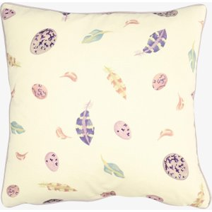 Purple Egg & Feather Cushion 1PEF021690 Home Accessories