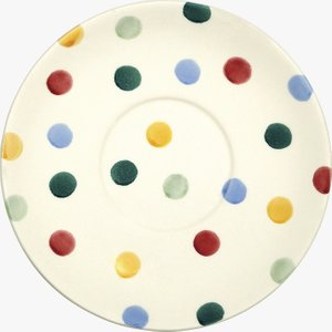 Seconds Polka Dot Large Tea Saucer Emma Bridgewater 2pod010084 Crockery