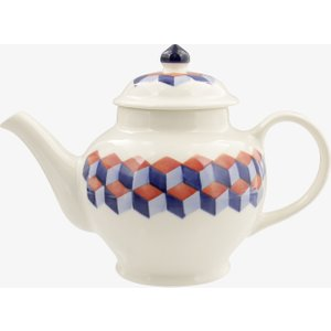 Seconds Red & Blue Tumbling Blocks 2 Mug Teapot 2TBK010100 Crockery