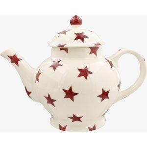 Seconds Red Star 4 Mug Teapot 2rss011859 Crockery