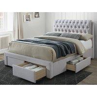 Artisan 3013 Front Drawer 5ft Kingsize Fabric Bedframe,stone Beds