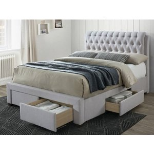 Artisan 3013 Front Drawer Fabric Bedframe,stone Beds