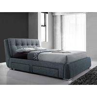 Artisan 3090 Four Drawer Fabric Bedframe,grey Beds