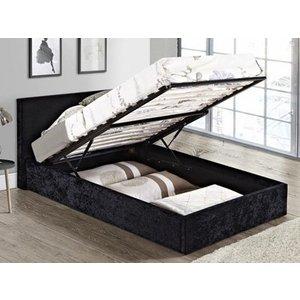 Birlea Berlin Ottoman Bed,crushed Velvet Black Beds