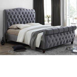 Birlea Colorado Fabric Bedframe,grey Beds