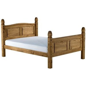 Birlea Corona 4ft Small Double Wooden Bedstead,high Footend