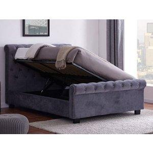 Flintshire Whitford 5ft Kingsize Fabric Bedframe,grey Beds