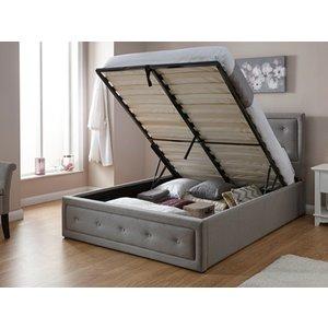 Milan Bed Company Hollywood Ottoman Bed,grey Mattresses