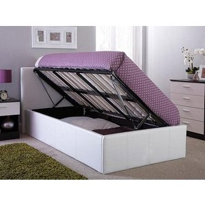 Milan Bed Company Side Lift Leather Ottoman Bed Beds