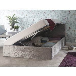 Milan Bed Company Side Lift Ottoman Bed,crushed Velvet Beds
