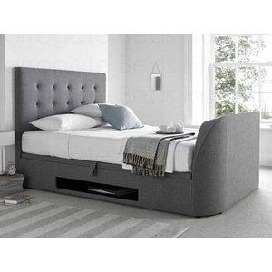 Mw Kaydian Design Barnard 5ft Kingsize Ottoman Tv Bed,smoke Beds