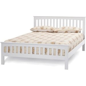 Serene Amelia White 4ft Small Double Wooden Bedstead