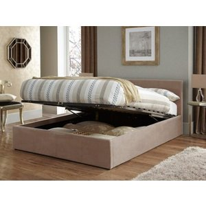 Serene Evelyn 4ft Small Double Fabric Ottoman Bed Mattresses