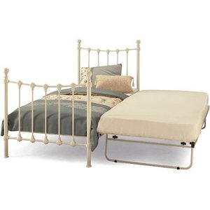 Serene Marseilles 3ft Single Metal Guest Bed (frame Only) Mattresses