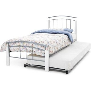 Serene Tetras 3-in-1 Metal Guest Bed,white Mattresses