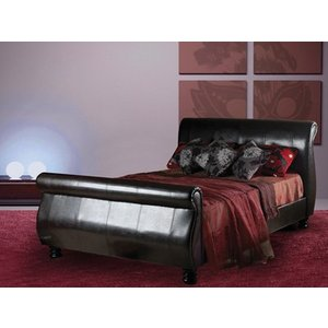 Sweet Dreams Mandarin Leather Bedstead