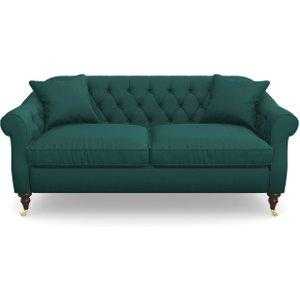 Abbotsbury 3 Seater Sofa In House Velvet- Peacock Sofas