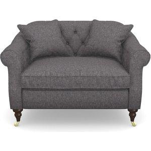Abbotsbury Snuggler In Easy Clean Plain- Ash Sofas