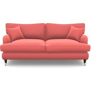 Alwinton 3 Seater Sofa In Clever Matt Velvet- Coral Sofas