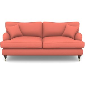 Alwinton 3 Seater Sofa In Plain Linen Cotton- Tequila Sunset Sofas