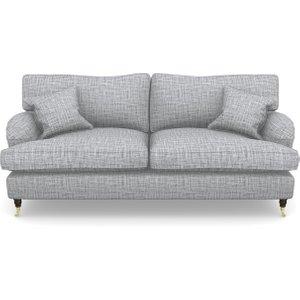 Alwinton 3 Seater Sofa In Textured Plain- Anthracite Sofas