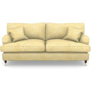 Alwinton 3 Seater Sofa In Textured Plain- Corn Sofas