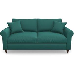 Apuldram 3 Seater Sofa In Clever Glossy Velvet- Kingfisher Sofas