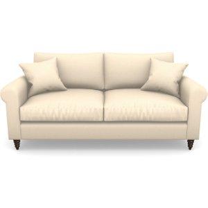 Apuldram 3 Seater Sofa In Plain Linen Cotton- Rice Pudding Sofas
