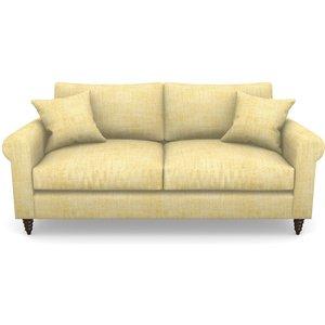 Apuldram 3 Seater Sofa In Textured Plain- Corn Sofas