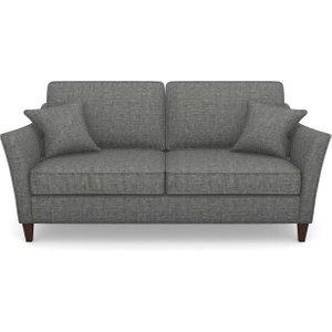 Ashdown 3 Seater Sofa In Mottled Linen Cotton- Thunder Sofas