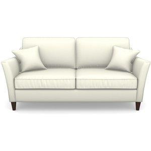 Ashdown 3 Seater Sofa In Plain Linen Cotton- Meringue Sofas