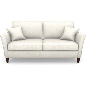 Ashdown 3 Seater Sofa In Textured Plain- Bianco Sofas