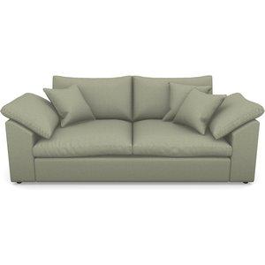 Big Softie Sloped Arm Sloped Arm 3 Seater Sofa In Plain Linen Cotton- Sage Sofas
