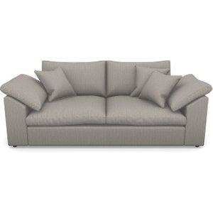 Big Softie Sloped Arm Sloped Arm 3 Seater Sofa In Herringbone- Shadow Sofas