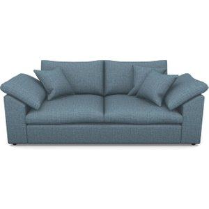 Big Softie Sloped Arm Sloped Arm 3 Seater Sofa In House Plain- Cobalt Sofas