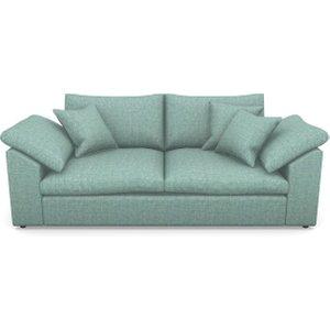 Big Softie Sloped Arm Sloped Arm 3 Seater Sofa In Mottled Linen Cotton- Ocean Sofas