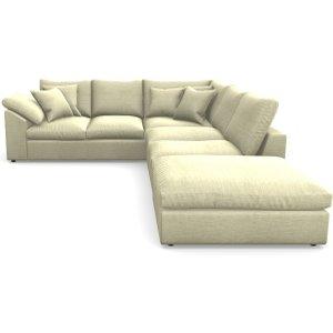 Big Softie Sloped Arm Sloped Arm Large Lhf In Textured Velvet- Almond Sofas