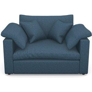 Big Softie Straight Arm Straight Arm Snuggler In Soft Wool- Denim Sofas