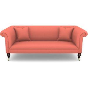 Brighton 3 Seater Sofa In Plain Linen Cotton- Tequila Sunset Sofas