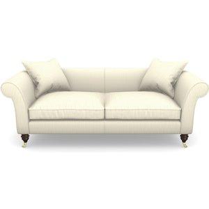 Clavering 3 Seater Sofa In Cotton Stripe- Grey Sofas