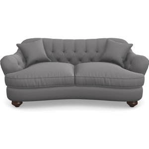 Fairmont 3 Seater Sofa In Clever Glossy Velvet- Shadow Sofas